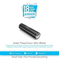 ANKER POWER BANK POWERCORE + 3350 MAH A1108 BLACK RESMI 18 BULAN