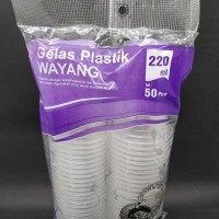 Gelas Plastik Wayang 220 Ml