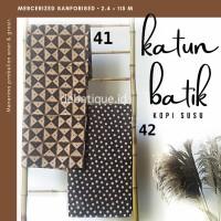 Kain Katun Batik Solo Premium Kopi Susu 5