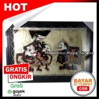 Lukisan Wayang Kulit Punokawan Bagong Semar Gareng Petruk - 70x50 cm
