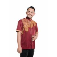 Baju Koko Lengan pendek Bordir Kualitas Premium TN 901 Merah