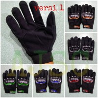 Sarung Tangan Motor panjang / Full Glove motif MONSTER ENERGY RACING - Lis Abu-abu