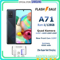 Samsung A71 Ram 8 - 128GB Kamera 64 MP SuperSteady Resmi SEIN Termurah