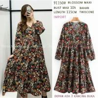 Blossom Maxi Gamis Import Gamis Bangkok Dress Zara Dress Bangkok