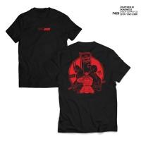 kaos hitam - fruddy duddy - fddy - red samurai