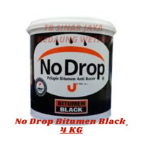 Cat Pelapis No Drop BITUMEN BLACK 4 Kg Nodrop Anti Bocor - NoDrop-
