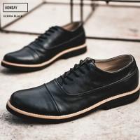 Sepatu Pria Formal Pantofel Kerja Kulit Kantor Ori MONDAY GERMA BLACK