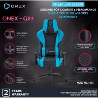 ONEX GX3 Premium Quality Gaming Chair Kursi - BLUE