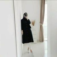LAISHA TUNIK kemeja wanita cewek baju putih polos muslim murah bagus