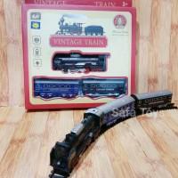 Mainan Anak Kereta Clasicc Vintage Train Lampu Murah