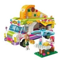 Lego Cewek Qman Cherry Colorful Holiday Joy Pizza Car