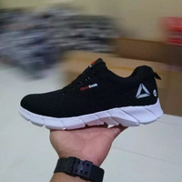 Sepatu Sport Olahraga Pria Reebok SpeedLux Running Sneakers Men Shoes - Hitam, 38