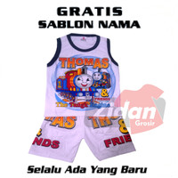 KAOS SETELAN SINGLET ANAK THOMAS AND FRIENDS GRATIS SABLON NAMA