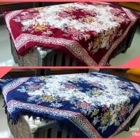 Taplak Meja Tamu Kotak Batik Coletan Ronce