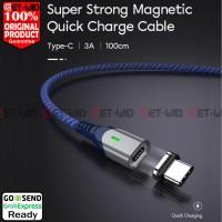 Kabel Data Magnet USB Type C QC 3.0 Fast Charging 3A MGC100