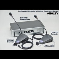 MICROPHONE CONFERENCE ASHLEY CCS 800 MIC BUILT IN SPEAKER BARU
