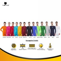 Tiento Unisex Baselayer Baju Olahraga Long Sleeve Original Multi Color