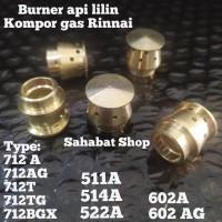 BURNER API LILIN KUNINGAN KOMPOR GAS RINNAI MODEL BARU