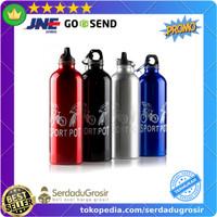 Botol Minum Olahraga Sepeda Aluminium 750ml Dengan Karabiner - H2GO