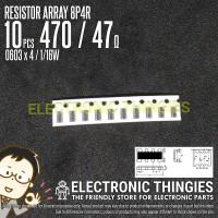 10pcs 8P4R 0603x4 5% 470 RESISTOR ARRAY - 47 OHM 1/16W 4D03