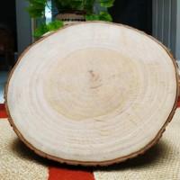 Wood slice diameter 22-23 cm talenan bahan dekorasi rustic