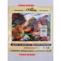 """Senar Gitar Classic Nylon D-4th (senar 4) Merek """"Alice"""" Satuan"""