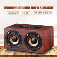 Original Wooden Double Horn Speaker ANSUOFU W5 Series Bluetooth Stereo