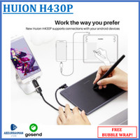 Huion H430P 430 Pro Pen Grafik Drawing Tablet HP Android like Wacom
