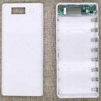 8 Slot Power Bank Case Kotak DIY untuk 8 Baterai 18650 Putih - Biru - Biru