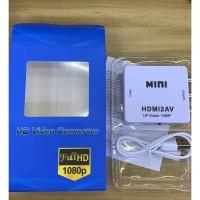 1080P Mini HDMI2AV HDMI TO AV Scaler Adapter HD Video Converter