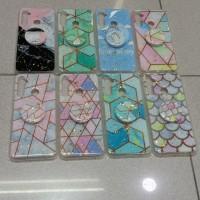 softcase casing Case motif Glitter free pop realme 5/5i