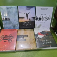Paket 6 Buku Novel Fiersa Besari Arah Garis Catatan Tapak Konspirasi