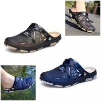 Sandal Sepatu Kasual Pria Flip Flop Santai Elegan Bahan Karet Impor