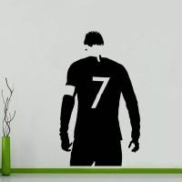 Wall Sticker CR7 Cristiano Ronaldo Stiker Dinding Kaca Rumah Murah - Putih