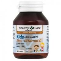 Healthy Care Kids Chewable Zinc + Vitamin C 60 Tablets