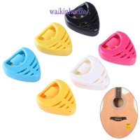 ✪ WA ✪ Holder Pick Gitar Portable Bentuk Hati Bahan Plastik