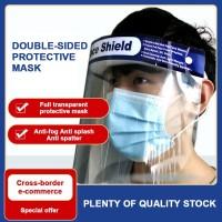 Masker Pelindung Wajah Model Full Face Tahan Debu Warna Transparan