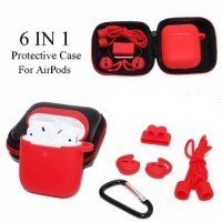 Silicone Apple Airpods case cover casing pouch protection 6in1 airpod