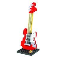 Mainan LOZ MEDIUM 9192 ELECTRIC GUITAR RED