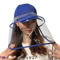 '' Removable Topi Anti Virus Anti Fog HD Topi Masker Tutup Pelindung