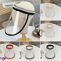 '' Topi Pelindung Anti Virus Protective Transparent Face Masker HD