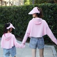 '' Masker Pelindung Matahari dengan Hoodie untuk Orang Tua dan Anak