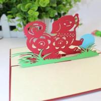 Kartu Ucapan Pop Up 3D Handmade untuk Tahun Baru Imlek