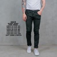 Credomenstore Celana Jeans Hijau / Celana Jeans Pria / Celana Panjang