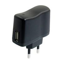 Adapter Charger AC 110V-240V to DC 5V 0.5A 500mA USB to EU Plug