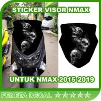 Sticker Windshield Visor Tengkorak Campur Nmax 2015-2019