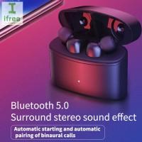 Earphone Wireless Bluetooth Stereo Anti Air dengan Mic untuk iPhone