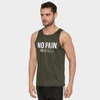 DONSON Sleeveless Tank Top Singlet No Pain English Army YD