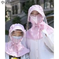 '' Masker Pelindung Matahari dengan Hoodie untuk Keluarga / Musim