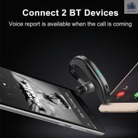 '' Earphone Wireless Bluetooth Stereo Bass dengan Mic untuk iPhone X